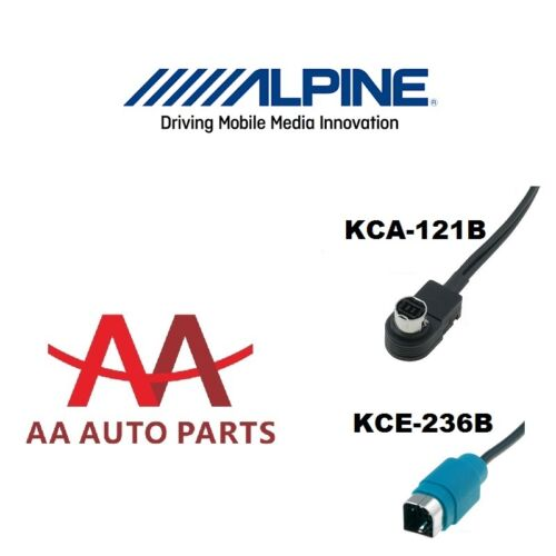 Alpine ALP-KCE-236B Aux In For iPhone 5 6 S Plus with lighting Charger