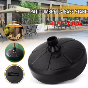 "15/"" Patio Umbrella Base Stand Heavy Duty Holder Outdoor Yard Beach Market NEW"