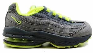 the best attitude 0bc86 13502 Details about Nike Air Max 95 Leather Kids Preschool Running Shoes Cool  grey Green 311524-031