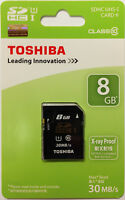Toshiba Ultra 8gb Sd Sdhc Class 10 30mb/s 200x Uhs-i Memory Card Sd-k008gr7ar30