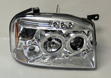 Chrome Projector Halo LED Headlights FITS Nissan Frontier & Navara D22 01-04