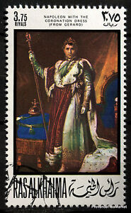 Stamp-New-Napoleon-Bonaparte-Paintings-Crew-Al-Khaima-88M381
