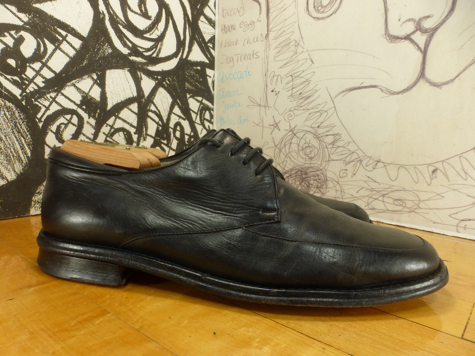 più preferenziale Bruno Magli nero Leather    Barton  Oxfords Uomo 9.5M Made in   è scontato