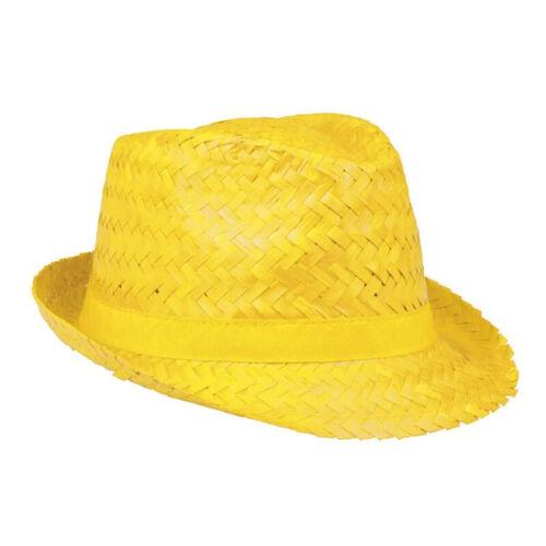 Borsalino paille jaune deguisement protection soleil trilby borsalino