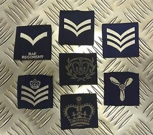 Genuine-British-Royal-Air-Force-RAF-ATC-Rank-Slides-1-Pair-NCO-WO-Assorted