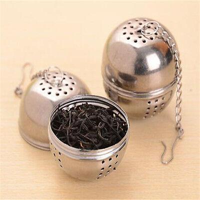 FD3180 Stainless Steel Tea Strainer Infuser Ball Mesh Filter Loose Tea LeafHook\