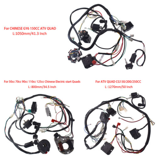 Wire Harness Assembly Wiring Kit For GY6 150cc// 50cc-125cc ATV //CG150-250cc QUAD