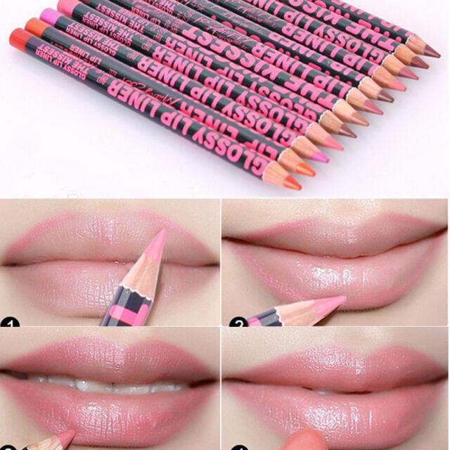 Fashion 12 Colors Option 1pc Professional Lipliner Waterproof Lip Liner Pencil