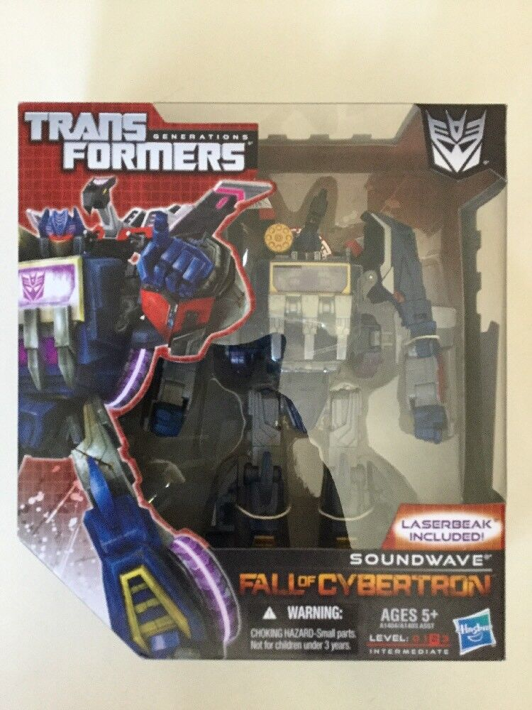 Transformers Generations Fall of Cybertron FOC Voyager Class Soundwave