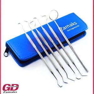 6er-Dental-Set-Zahnsteinentferner-Zahnsonde-Zahnpflege-Teeth-Whitening-Werkzeuge