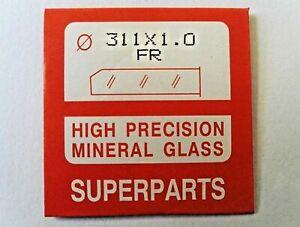 Orologio-di-qualita-in-vetro-cristallo-minerale-viso-FLAT-ROUND-1mm-spessore-16-1mm-a-40mm