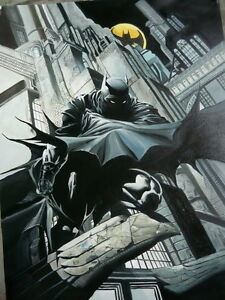 Details Zu Batman Dark Knight Painting 30x20 Framing Avail Bane Riddler Gotham Bane Joker