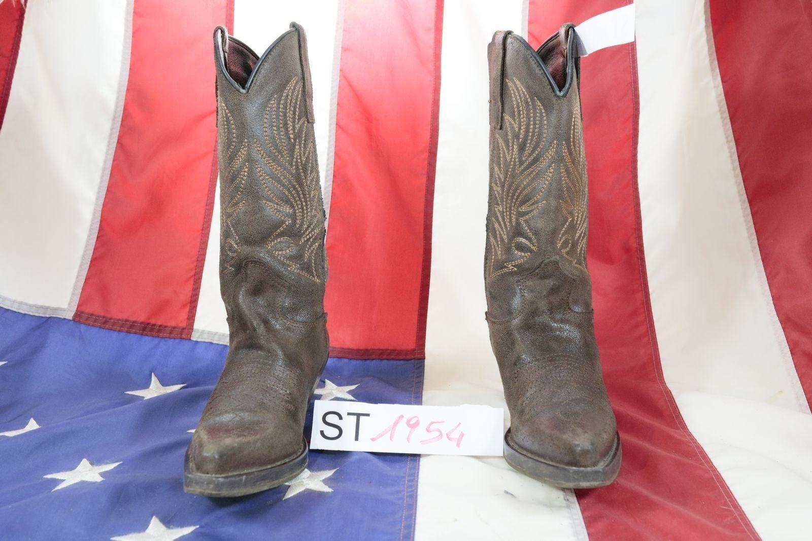 Stivali (Cod. ST1954) USATO N.36 women pelle brown Cowboy Country Texani
