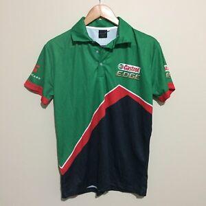 Castrol-Edge-V8-Supercars-Official-Racing-Polo-Shirt-Green-Mens-Small