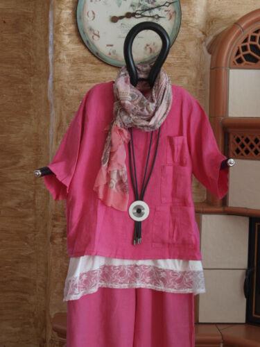Labass Xxl 54 Ursula Kurz Shirt Gr 52 Lagenlook Leinen 6005 2018 Pink Knöpfe TndwqRqyaF
