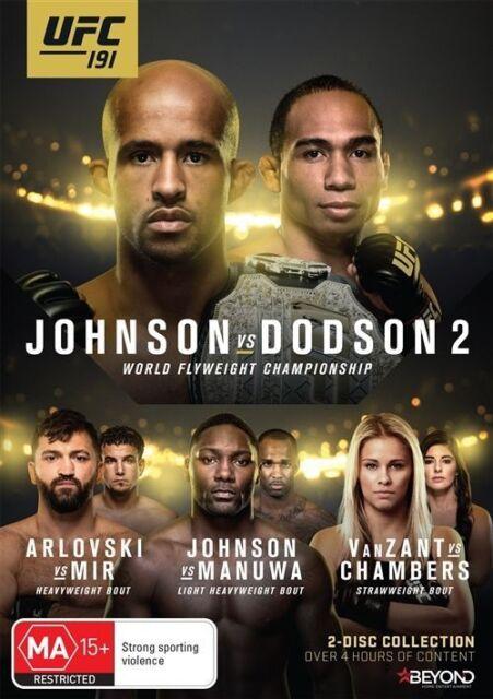 UFC #191 - Johnson Vs Dodson II (DVD, 2016, 2-Disc Set) Region 4