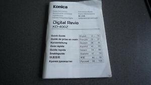 Konica Kamera Digital Revio KD-400Z Bedienungsanweisung Manual MK77 95140-00