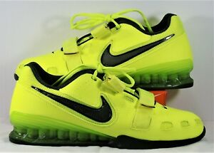 reputable site a10ff d0d9d Image is loading Nike-Romaleos-2-Black-amp-Volt-Training-Weightlifting-