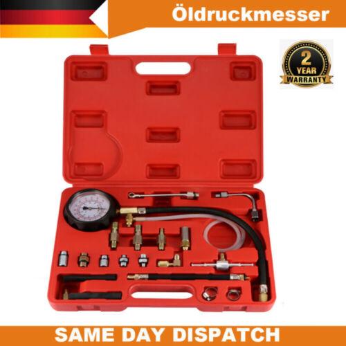 20tlg.Öldruckprüfer Öldrucktester Set Öl-Meßgerät Öldruckmesser für PKW,SUV,DHL
