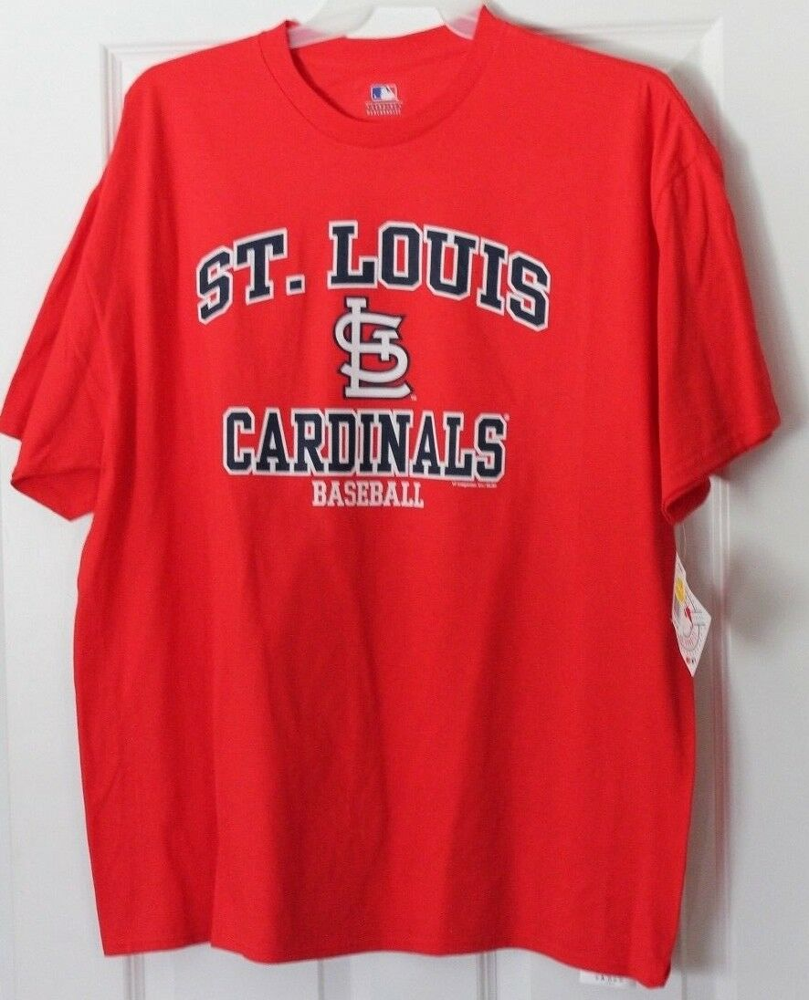 St. Louis Cardinal Logo Red Men's T-Shirt Size L