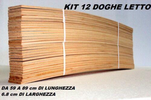 KIT 12 DOGHE DI RICAMBIO PER RETI LETTO IN LEGNO-TUTTE LE MISURE LARGHEZZA 6,7CM