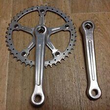 Pedalier Campagnolo Super Record Pista 165 Cranksets 46 Dents Bike Rare Fixie