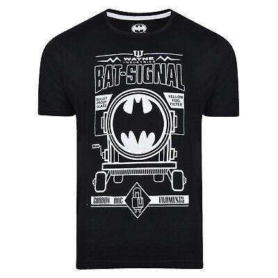 Da Uomo Batman T Shirt Slim Fit Nero Ex Store Bat-Segnale Ufficiale DC Comics NUOVO
