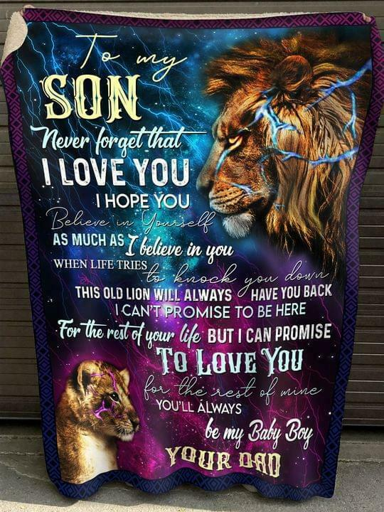 Lion Dad To My Son I Can Promise To Love You For The Rest Of Mine Fleece Blanket