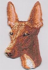 "1 3/4"" x 2 3/4"" Pharaoh Hound Dog Breed Embroidery Applique Patch"