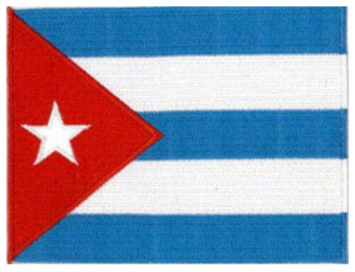 """Cuba  Cuban embroidered Country Flag Patch 5/""""x 4/"""" approx 13 x 10CM"""