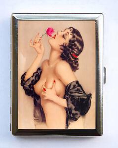 Pin-up-Rose-Cigarette-Case-Wallet-Business-Card-Holder