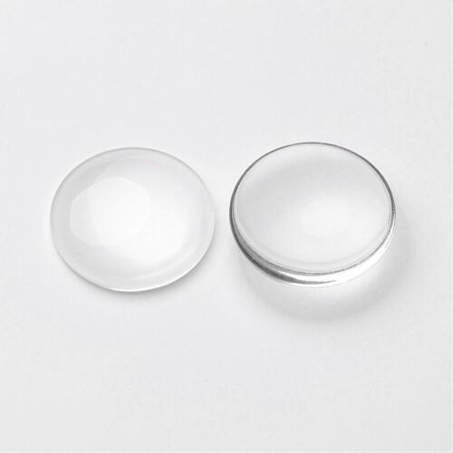 Sello de cúpula de vidrio cabujón 25mm Redondo claro para la configuración de Bandeja Colgante Joyas