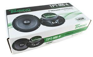 Pair-Timpano-TPT-M6-4-6-034-Mid-Range-Loud-Speakers-Car-or-Pro-Audio-280W-4-Ohm