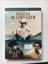 THE MATTHEW MCCONAGHEY COLLECTION 3 DVD SET MUD KILLER JOE DALLAS BUYERS CLUB