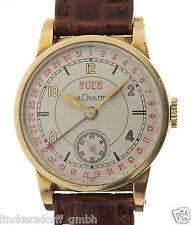 LeCoultre Herrenarmbanduhr aus den 1940er Jahren - Datums- und Wochentagsanzeige