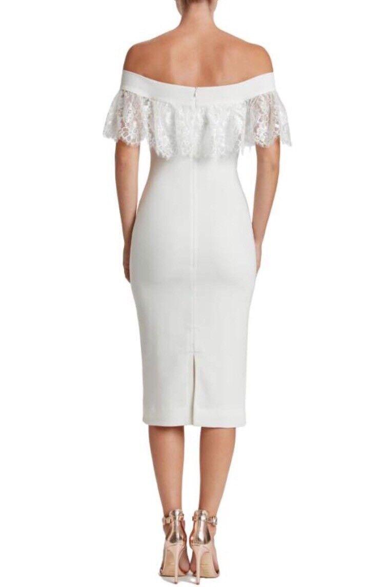 Dress The Population Population Population  Alice  Off the Shoulder Lace Detail Midi Dress, XL 43208b