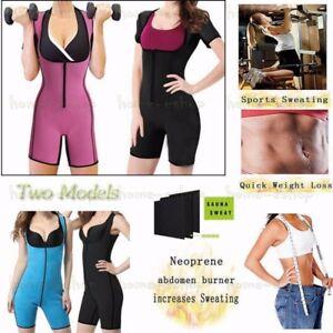 3b0095bcdda Women Neoprene Full Body Shaper Ultra Sweat Sport Enhancing Bodysuit ...