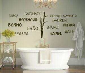 Wandtattoo Welllness Wandaufkleber Wandtattoo Badezimmer Bambus Spruch A196 Ebay