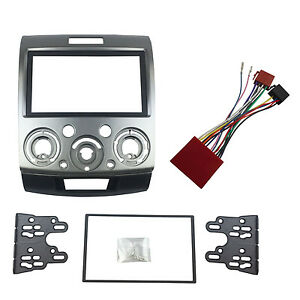 double din fascia iso wire harness for ford everest ranger image is loading double din fascia iso wire harness for