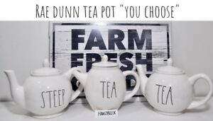 Rae-Dunn-Tea-Pot-TEA-STEEP-034-YOU-CHOOSE-034-NEW-HTF-039-18-039-19