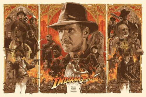 H120 Art Poster New Indiana Jones and the Last Crusade Classic Movie Wall Print