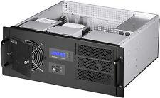"4U LCD (SPI-400W)(D:14.96"")(3x5.25""+9xHDDs)(Rackmount Chassis)(mATX/ITX)Case NEW"