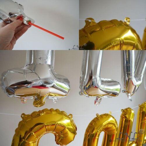 """Happy 30 Plata Oro Rosa Nuevo 3d letras 16/"""" Globos Fiesta Cumpleaños 30th pancarta"""