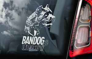 Bandog-On-Board-Auto-Finestrino-Adesivo-Beware-Of-The-Dog-Firmare-V02
