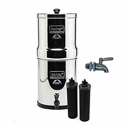 Big Berkey Water Purifier w// 2 Black BB9 Filters and Stainless Steel Stand New