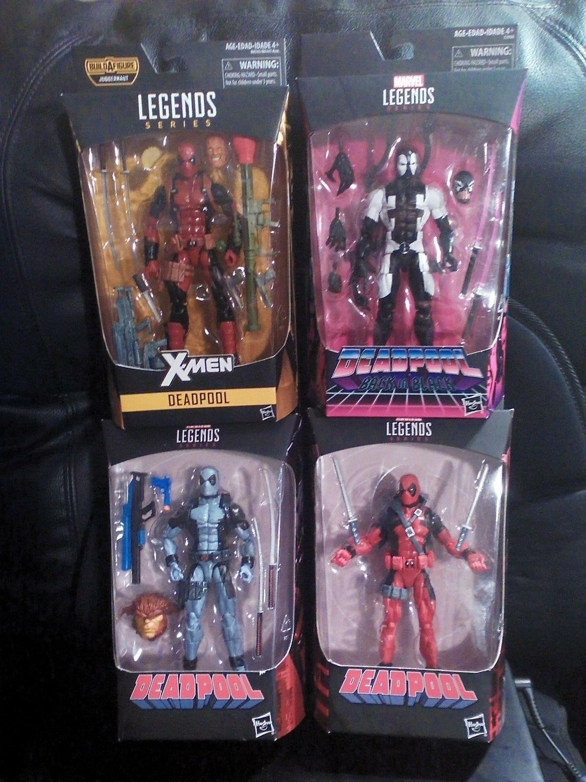 Leyendas De Marvel  Deadpool  las versiones 4 6  Lote De Figuras De Acción