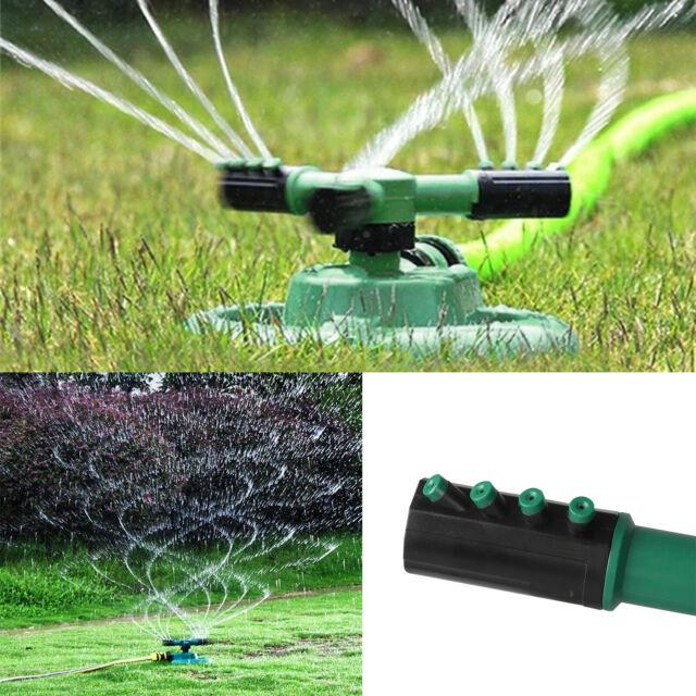 Water Lawn Sprinkler Tripod Garden Watering Yard Impulse Irrigation System UK