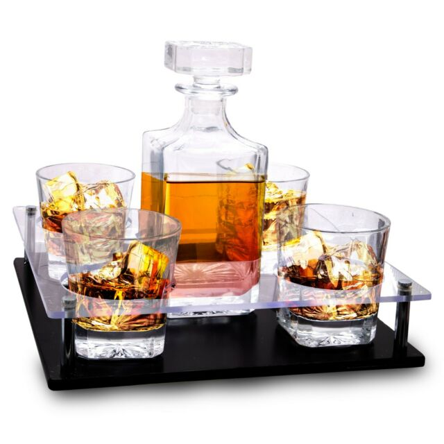 Old Fashioned Decanter & Whiskey Glasses Set – On Rich ...