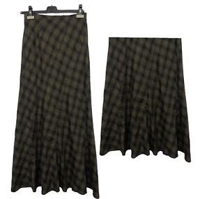 New Womens High Quality Tartan Check Long Maxi Skirt Gypsy Muslim Size 8 10