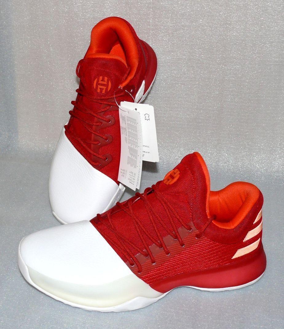Adidas BW0547 Performance Harden Vol 1 Herren Schuhe Turnschuhe 40 2 3 UK7 Weiß Rot